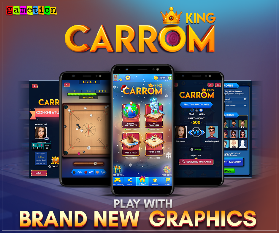 Carrom King updated with Brand New Graphics