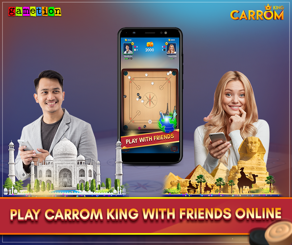 Carrom King play with friends
